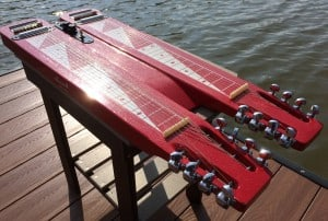 Double Neck Lap Steel - Red Morrell