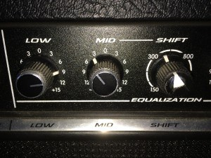 Practice Benchmark - Broken knobs on a Peavey Nashville 112 - overuse will result in caps falling off.