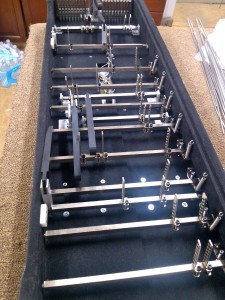 Undercarriage of Emmons Legrande 2 pedal steel - Restored by Billy Knowles