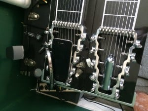 Pedal Steel Headstock with Bar, Headphones, and Metronome